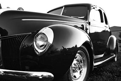 Photograph - Black And White Ford 1 by Scott Hovind