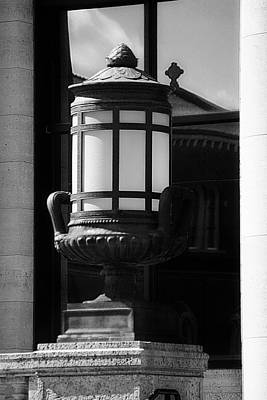 Photograph - Black And White Lamp by Scott Hovind