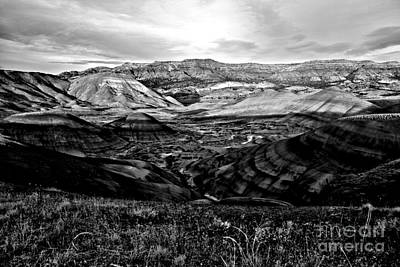 Photograph - Black And White Painted Hills by Adam Jewell