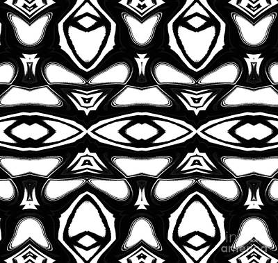Pattern Geometric Black White Art No.235. Original