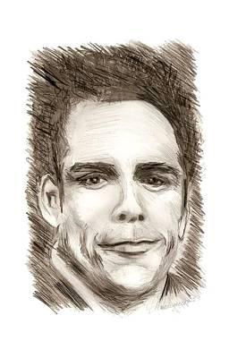Pencil Drawing - Black And White Pencil Portrait by Mario Perez