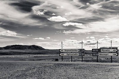 Photograph - Black And White Sky Over Iceland by Anthony Doudt