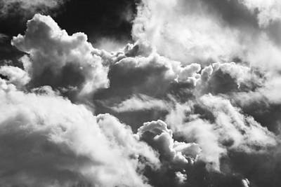 Photograph - Black And White Sky With Building Storm Clouds Photo Poster Print by Keith Webber Jr
