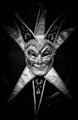 Black And White Trickster Print by Robert Hellstrom