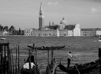 Photograph - Black And White Venice 2 by Andrew Fare