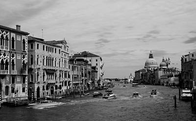 Photograph - Black And White Venice 3 by Andrew Fare