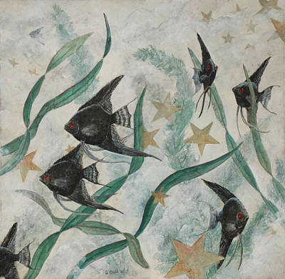 Painting - Black Angels by Sandy Clift