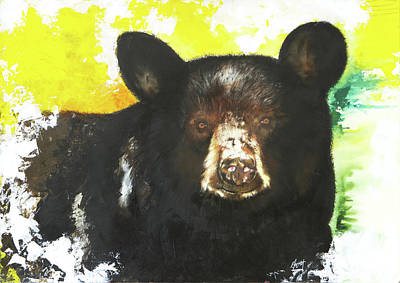 Mixed Media - Black Bear by Anthony Burks Sr