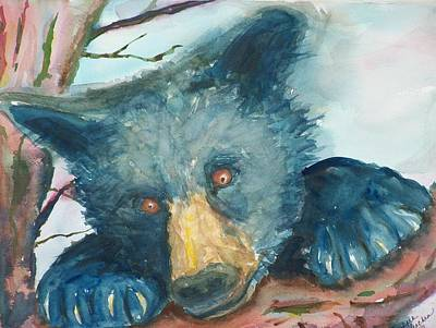 Painting - Black Bear  by Barbara McGeachen
