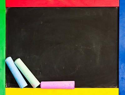 Chalk Boards Photograph - Black Board by Tom Gowanlock