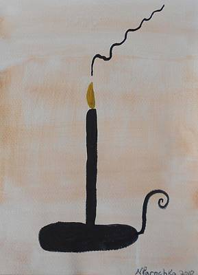 Painting - Black Candle by Natalee Parochka