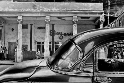Rowing Royalty Free Images - Black Car Havana Royalty-Free Image by Andrew Fare