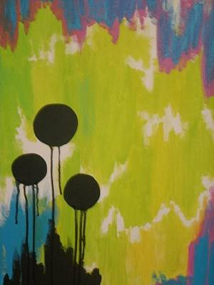 Painting - Black Circles by Samantha L
