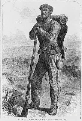 Black Civil War Soldier Art Print by Photo Researchers