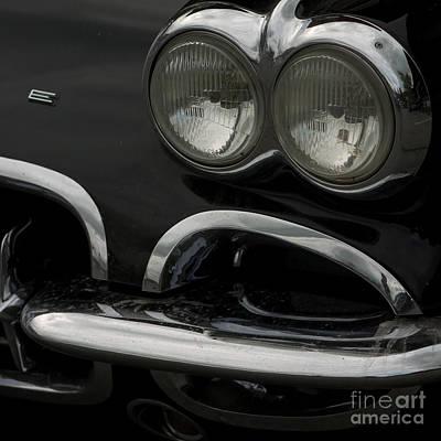 Photograph - Black Corvette by Jorgen Norgaard