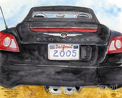 Black Crossfire Art Print by Sheryl Heatherly Hawkins