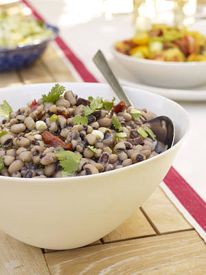 Black Eyed Peas Photograph - Black Eyed Pea Salad by James Baigrie