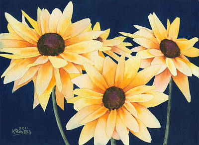 Painting - Black Eyed Susans 2 by Ken Powers