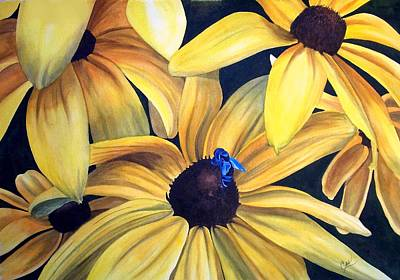 Painting - Black Eyed Susans by Karen Casciani