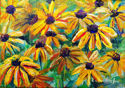 Painting - Black Eyed Susans by Lou Ann Bagnall