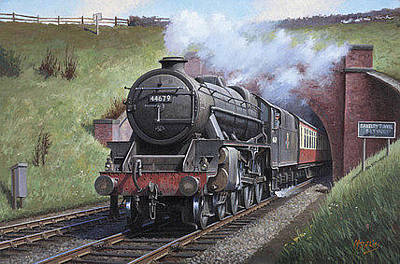 Power Painting - Black Five. by Mike Jeffries