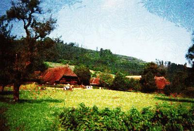 Manipulation Photograph - Black Forest German Village by Mario Carini