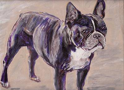Painting - Black Frenchie by Arthur Rice