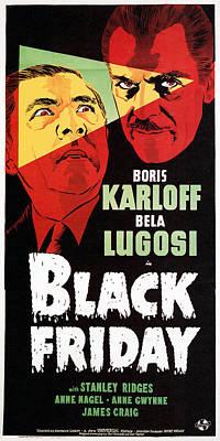 Lugosi Photograph - Black Friday, Bela Lugosi, Boris by Everett