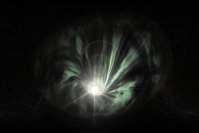 Accreting Photograph - Black Hole by Christian Darkin