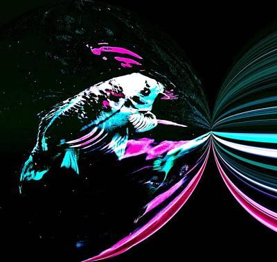 Fish. Spherical Digital Art - Black Hole by Don Mann