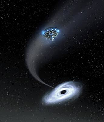 Digitally Manipulated Photograph - Black Hole Research by Richard Kail