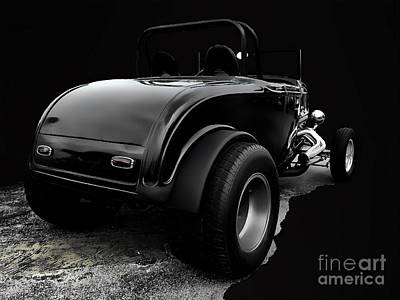 Black Jalopy Art Print