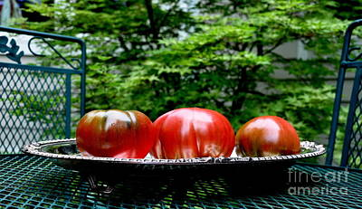 Berries Photograph - Black Krim Heirloom Tomatoes by Tanya  Searcy