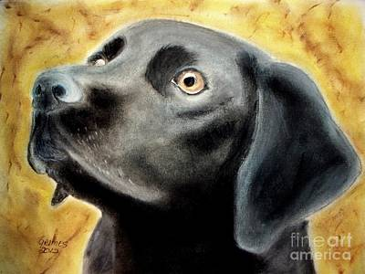 Painting - Black Lab by Carol Grimes