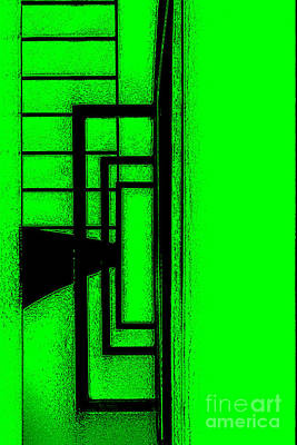 Royalty-Free and Rights-Managed Images - Black lines on green background by Adriano Pecchio