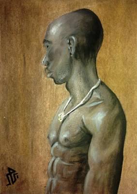 Black Man Print by Baraa Absi