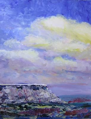 Painting - Black Mesa Skies by Don Hutchison