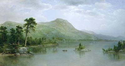 River View Painting - Black Mountain From The Harbor Islands - Lake George by Asher Brown Durand