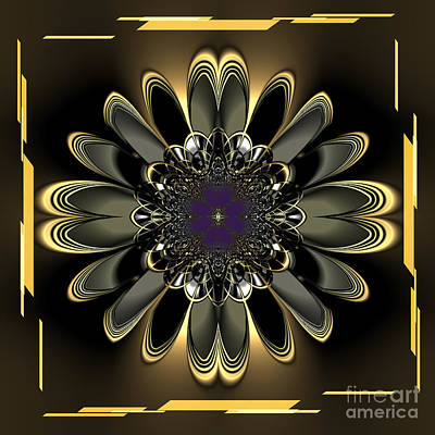 Black Orchids Mixed Media - Black Orchid Abstract by Heinz G Mielke