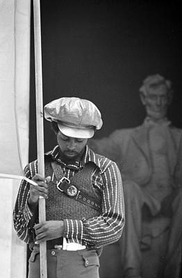 Black Panthers At The Lincoln Memorial - 1970 Art Print by International  Images