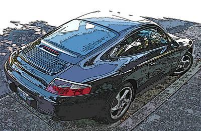 Black Porsche Carrera Art Print