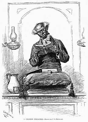 Black Preacher, 1890 Art Print by Granger