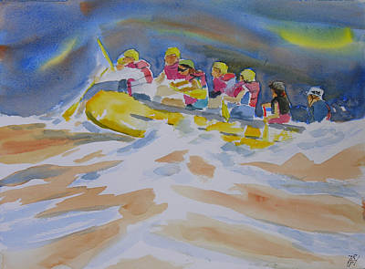 White Water Rafting Painting - Black River Whitewater Rafting by Robert P Hedden