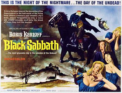 Horror Movies Photograph - Black Sabbath, Aka I Tre Volti Della by Everett