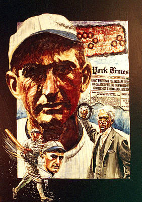 Shoeless Joe Jackson Painting - Black Sox by Ken Meyer jr