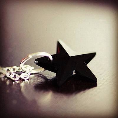 Jewelry Photograph - #black #star #necklace #jewelry by Shannon Ferguson