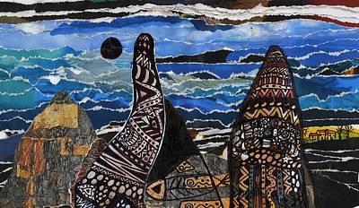 Mixed Media - Black Sun And A Small Village by Branko Jovanovic