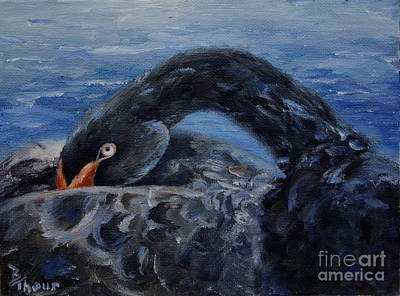 Painting - Black Swan by Brenda Thour