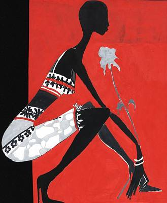 Black Woman Art Print