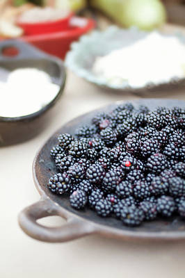Healthy Eating Photograph - Blackberries by AE Pictures Inc.